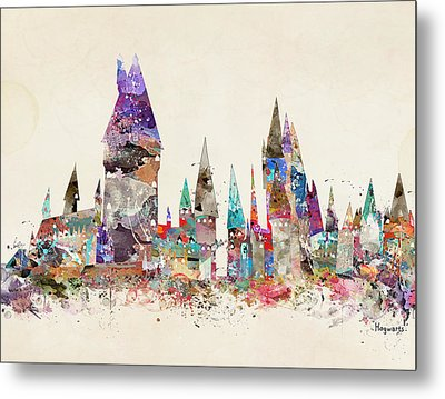Pop Art Hogwarts Castle Metal Print by Bri B