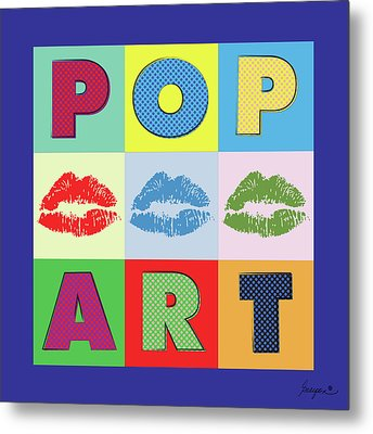 Pop Art Lips Metal Print by Gary Grayson