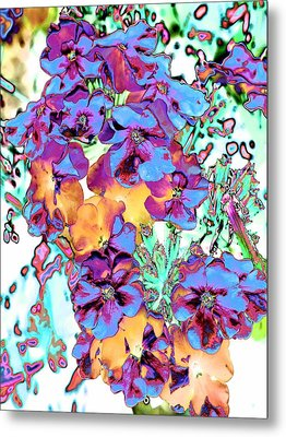 Pop Art Pansies Metal Print by Marianne Dow