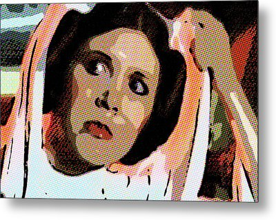 Pop Art Princess Leia Organa Metal Print