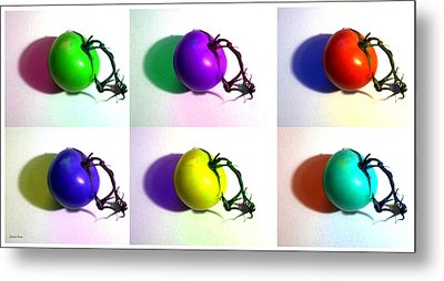 Metal Print featuring the photograph Pop-art Tomatoes by Shawna Rowe