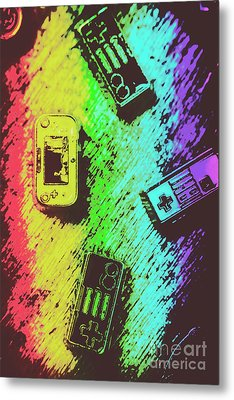 Pop Art Video Games Metal Print