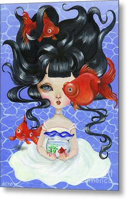 Pop-eyed Goldfish Metal Print