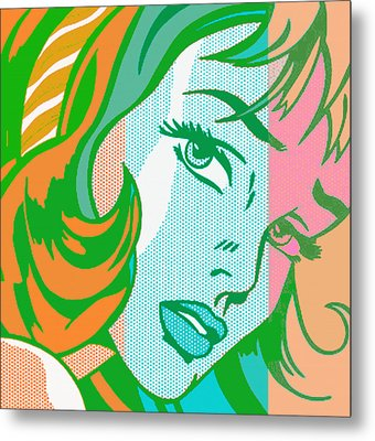 Pop Girl Metal Print by Christian Colman