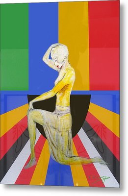 Popart Showgirl 2 Metal Print by Tom Conway
