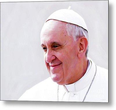 Pope Francis Metal Print by Paul Tagliamonte