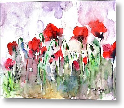 Poppies Metal Print by Faruk Koksal