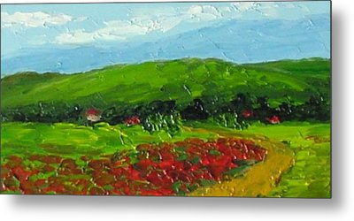 Poppies Metal Print by Fred Wilson