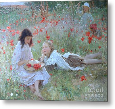Poppies Metal Print by Frederick Stead