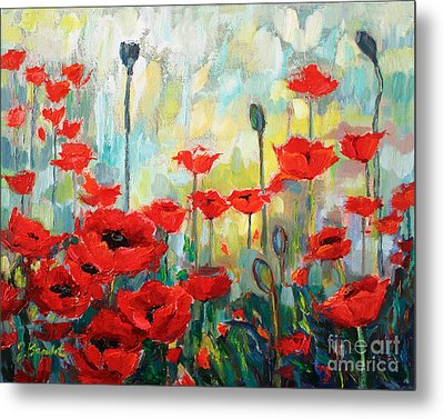 Poppies In Bloom Metal Print by Jennifer Beaudet