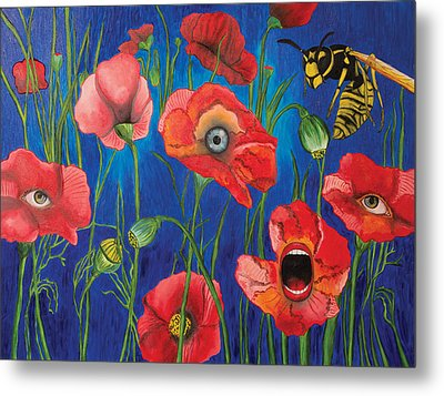 Poppies Metal Print by John Alekseev