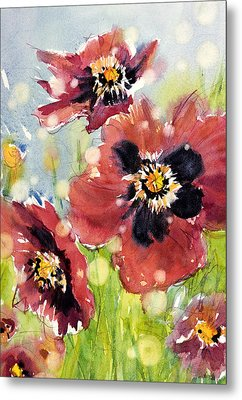 Poppies Metal Print by Judith Levins