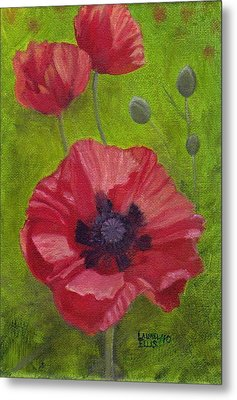 Poppies Metal Print by Laurel Ellis