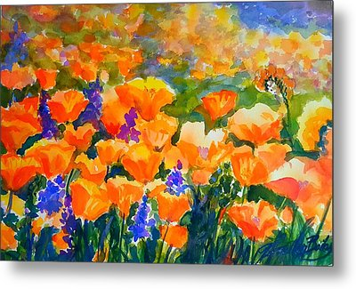 Poppies Like Hansen Metal Print by Therese Fowler-Bailey