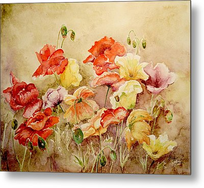 Poppies Metal Print by Marilyn Zalatan