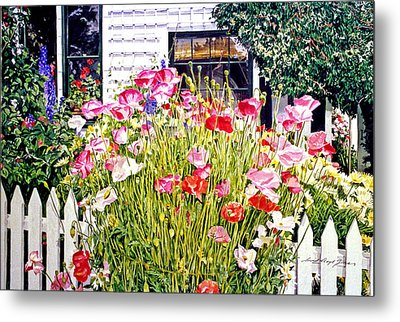 Poppies On Niagara Street Metal Print by David Lloyd Glover