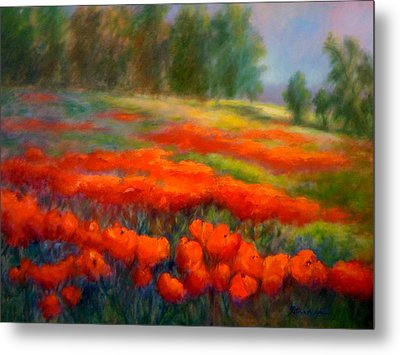 Poppies Metal Print by Patricia Lyle