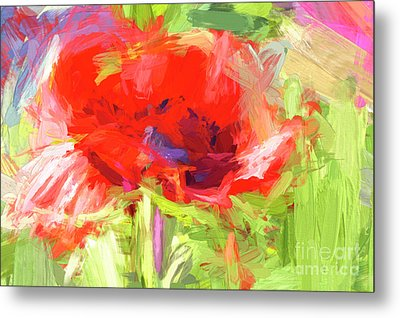 Metal Print featuring the photograph Poppy Abstract Photo Art by Sharon Talson