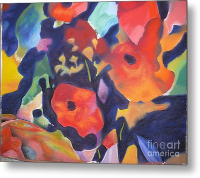 Metal Print featuring the pastel Poppy Bouquet by Terri Thompson