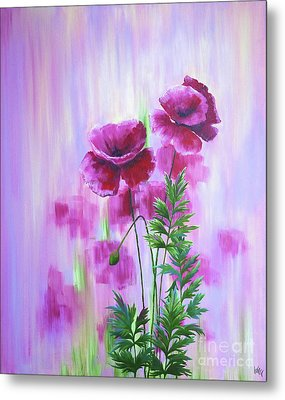 Poppy Haze Metal Print