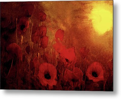 Poppy Heaven Metal Print
