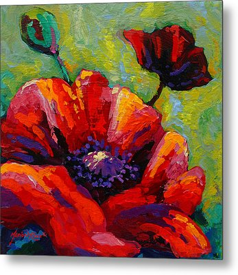 Poppy I Metal Print by Marion Rose
