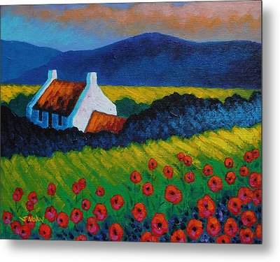 Poppy Meadow Metal Print by John  Nolan