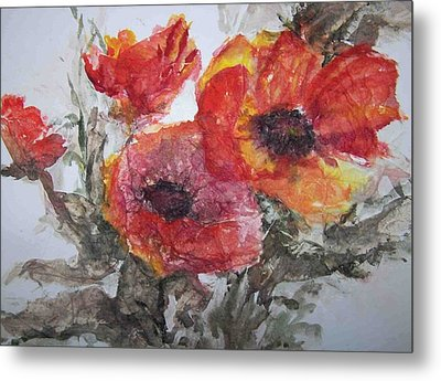 Poppy Parade Metal Print by Sandy Collier