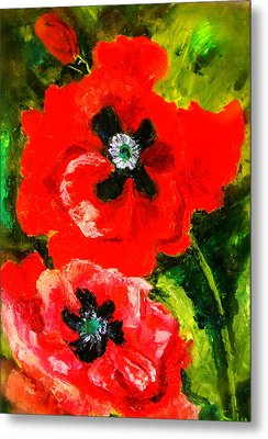 Poppy Season Metal Print