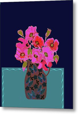 Poppy Stille Metal Print