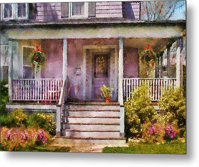 Porch - Cranford Nj - Grandmotherly Love Metal Print by Mike Savad