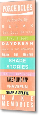 Porch Rules Metal Print