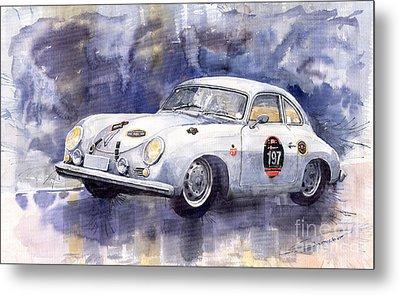 Porsche 356 Coupe Metal Print by Yuriy  Shevchuk