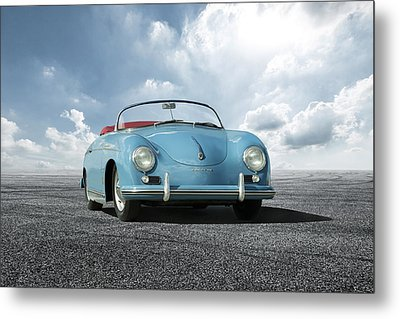 Metal Print featuring the digital art Porsche 356 Speedster by Peter Chilelli