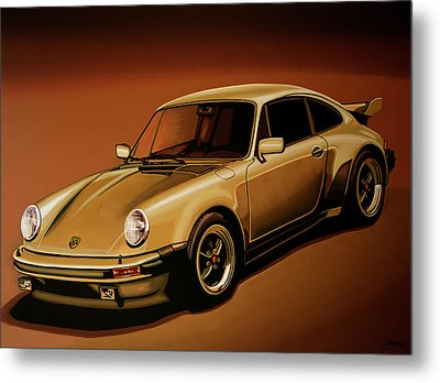 Porsche 911 Turbo 1976 Painting Metal Print by Paul Meijering