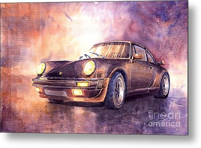 Porsche 911 Turbo 1979 Metal Print by Yuriy  Shevchuk
