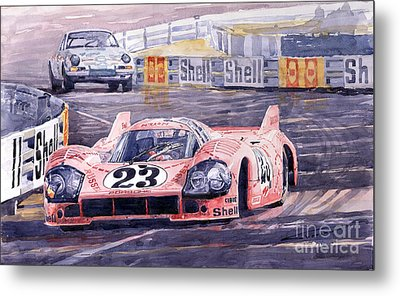 Porsche 917-20 Pink Pig Le Mans 1971 Joest Reinhold Metal Print by Yuriy  Shevchuk