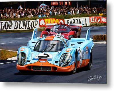 Porsche 917 At Le Mans Metal Print by David Kyte