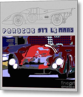 Porsche 917 Graphic Metal Print