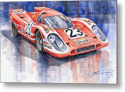 Porsche 917k Winning Le Mans 1970 Metal Print by Yuriy  Shevchuk