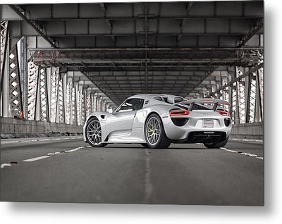 Porsche 918 Spyder Metal Print