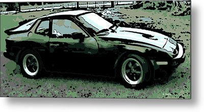 Porsche 944 On A Hot Afternoon Metal Print by George Pedro