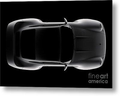 Porsche 959 - Top View Metal Print