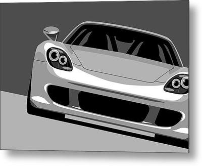 Porsche Carrera Gt Metal Print by Michael Tompsett