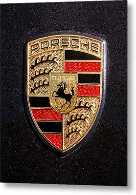 Porsche Emblem -211c Metal Print