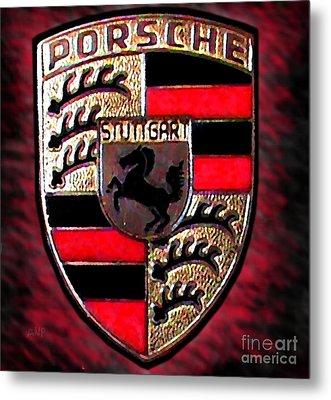 Porsche Emblem Metal Print by George Pedro