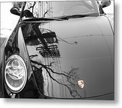 Porsche Reflections Metal Print by Andrew Fare