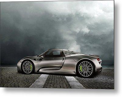 Porsche Spyder Metal Print by Peter Chilelli