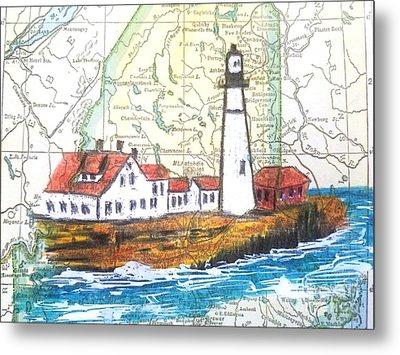 Port Head Lighthouse Maine Metal Print by Scott D Van Osdol