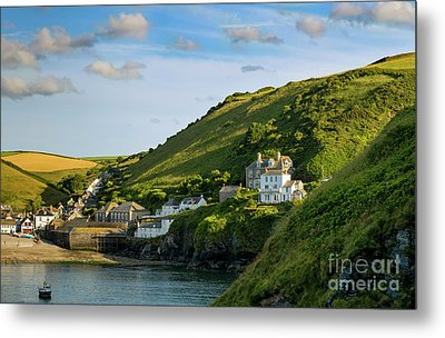 Metal Print featuring the photograph Port Issac Hills by Brian Jannsen